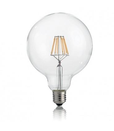 LAMPADINA CLASSIC E27 8W GLOBO D125 TRASP 3000K